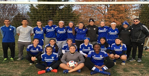 Baltimore Bays Dynasty U18 Girls 2016 Charlotte Moran Showcase Finalists